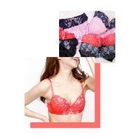 大きいサイズ レディース デザイン刺繍ブラジャー&ショーツセット|clette-online|03