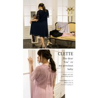 大きいサイズ レディース スカラップレースAラインワンピースドレス|clette-online|06