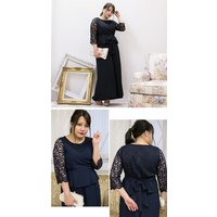 大きいサイズ レディース ビスチェデザインセットアップパンツドレス|clette-online|05