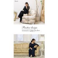 大きいサイズ レディース ビスチェデザインセットアップパンツドレス|clette-online|06