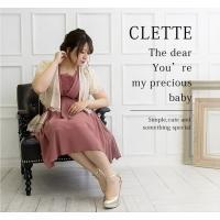 大きいサイズ レディース フロントプリーツデザインワンピースドレス clette-online 08