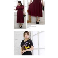 大きいサイズ レディース プリーツデザインロングワンピースドレス clette-online 06
