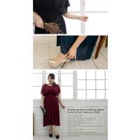 大きいサイズ レディース プリーツデザインロングワンピースドレス clette-online 07