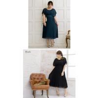 大きいサイズ レディース プリーツデザインロングワンピースドレス clette-online 08