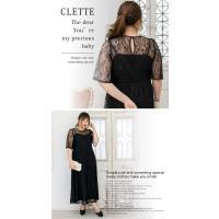 大きいサイズ レディース 総レースロングワンピースドレス|clette-online|05