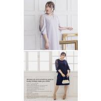 大きいサイズ レディース 袖リボンAラインワンピースドレス|clette-online|05