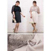 大きいサイズ レディース ケープデザインワンピースドレス|clette-online|04