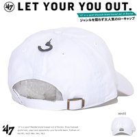 47BRAND フォーティーセブンブランド ローキャップ 帽子 アジャスターバック '47 CLEAN UP 同色NY刺繍 (RGW17GWSNL)
