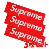 SUPREME(シュプリーム)  Box Logo Sticker (3枚セット)(ボックスロゴ)(ステッカー)  RED 290-000699-013-3+【新品】(グッズ)