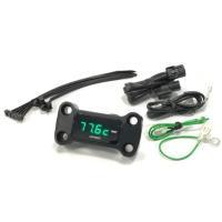 OPMID製 OPトップインジケーター油温計&電圧計(ブラック) 適合:グロム(JC75)