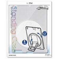 ☆GREENHOUSE iPad用スタンド付きシェルカバー クリア GH-CA-IPADRC