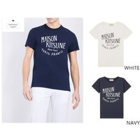 ブランド:MAISON KITSUNE 素材:綿100% カラー:【ホワイト】【ネイビー】 仕様:ク...