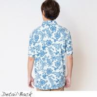 父の日 ギフト アロハシャツ かりゆしウェア メンズ(男性用) Arabesque Hibi 全4色 半袖 沖縄結婚式にアロハシャツ 送料無料