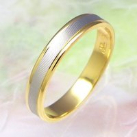 ◆地金:プラチナ900/K18ゴールド ◆リング幅:約3.5mm ◆展開サイズ:23〜30号 ○受注...