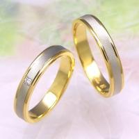 ◆地金:プラチナ900/K18ゴールド ◆使用石 M097Dのみ:ダイヤモンド(0.02ct) ◆リ...