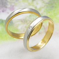 ◆地金:プラチナ900/K18ゴールド ◆使用石 M150Dのみ:ダイヤモンド(0.014ct) ◆...