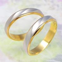 ◆地金:プラチナ900/K18ゴールド ◆リング幅:約3.5mm ◆展開サイズ:3〜22号 ○3〜4...