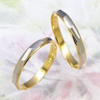 ◆地金:プラチナ900/K18ゴールド ◆リング幅:約2.5mm ◆展開サイズ:3〜22号 ○3〜4...