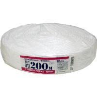 3本でロープ状に溶着された、ほどけにくいポリプロピレン製ロープです。●色:白●幅6mm×長さ200m...