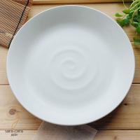 白釉 ろくろ目たっぷりパスタ お料理皿です。 真ん中のろくろ目のデザインがお洒落で、 お食事を美しく...