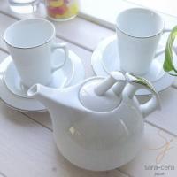 スタイリッシュでシンプル。それが基本。 透き通るような白い食器にプラチナのラインは高級感、清潔感たっ...