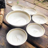 お得パック6ピースハーブガーデン食器セット 小鉢φ14×4.5cm×5個 サラダボール大鉢φ21.5...