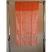【70%OFF】 シルクロングスカーフ 3枚仕立て・オレンジ