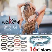 国内発送 送料無料 Wakami ワカミ ブレスレット Life Is…Wrap Bracelet ...