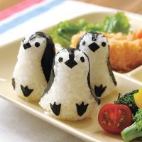 おにぎり押し型 ペンギンおにぎり ベビー キャラ弁 ( おにぎり抜き型 ご飯押し型 お弁当グッズ )