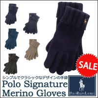 ■アイテム説明 【Polo Ralph Lauren】ポニー刺繍 メリノウール 手袋 【ポロ ラルフ...