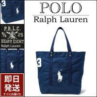 ■アイテム説明 【Polo Ralph Lauren】 ビッグポニー 刺繍 キャンバス トートバッグ...