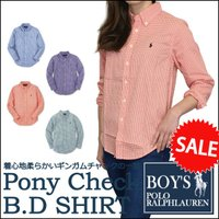 ■アイテム説明 【Polo Ralph Lauren BOYS】ポニー刺繍 ギンガムチェック 長袖 ...
