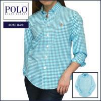 ■アイテム説明 【Polo Ralph Lauren BOYS】 ポニー刺繍 ギンガムチェック 長袖...