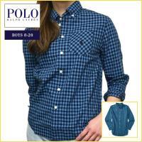 ■アイテム説明 【Polo Ralph Lauren BOYS】 ポニー刺繍 ポケット チェック コ...