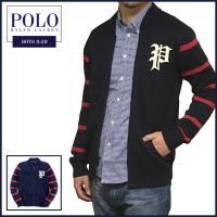 ■アイテム説明 【Polo Ralph Lauren BOYS】ワッペン ボーダー フルジップ ニッ...