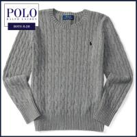 ■アイテム説明 【Polo Ralph Lauren BOYS】ケーブルニット編み クルーネック ニ...