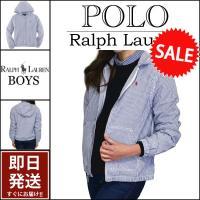 ■アイテム説明 【Polo Ralph Lauren BOYS】ポニー 刺繍 フード付き シアサッカ...