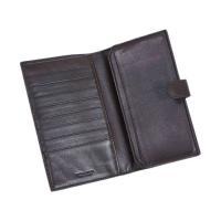 ボッテガヴェネタ 財布 132357-2040 レディース 二つ折り ミディアム財布 イントレッチャート ナッパ エバノ ダークブラウン
