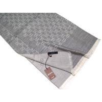 グッチ ショール アウトレット 165903-1400 マフラー GGジャガード ウール/シルク 70x200 ミックスライトグレー