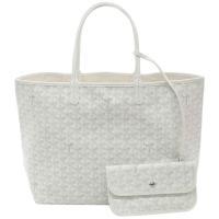 【新品 本物 保存袋/紙袋付き】ゴヤール トートバッグ サンルイPM ホワイト ・宝物箱のようなイメ...