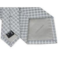 アルマーニ ネクタイ メンズ ジョルジオ アルマーニ ジャガード デザイン ドット シルク100% シルバー/シルバーホワイト 29050