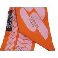 エルメス ツイリー H062917S20 ソルド スカーフ 86x5 シルクツイル オレンジ/パウダーピンク