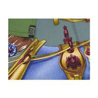 【わけあり】エルメス スカーフ ソルド カレ ツイル シルク100% 90CMS HARNAIS DE COUR グリーンティー/グレー 26417 わけありセール