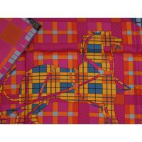 エルメス スカーフ ソルド カレ ツイル シルク100% 90CMS EXLIBRIS A CARREAUX ピンク/オレンジ/ブルー 29177
