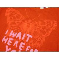 リプレイ Tシャツ W5930 レディース 半袖 丸首 ダメージプリント オレンジ