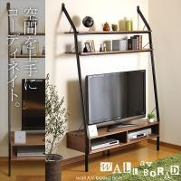 テレビ上のスペースを有効に活用できる壁面収納AVボード、ベイル。  板材にはウォールナット突板を使用...