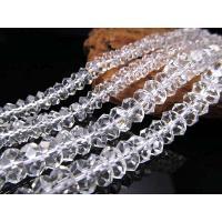 キラキラカット 5-6mm 厚み約 3mm 一連 天然水晶ボタンカット クリスタル 約40cm 水晶 ボタンカット 連 水晶 ボタンカット 連