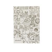 スケッチの動物たちの活版ポストカードです。 厚めの紙質に、凸凹とした手触りが特徴の活版印刷の技法で ...