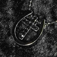 ブラック 馬蹄 十字架 ネックレス ペンダント アクセサリー 激安価格 メンズ 彼氏 男性用 レディ...