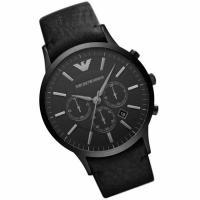 エンポリオ アルマーニ EMPORIO ARMANI 腕時計 メンズウォッチ レザーベルト ブラウン...